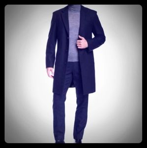 Ike Behar Mens Oxford Dress Wool Jacket